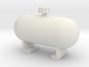 Fake fuel tank ''Rounded'' in White Natural Versatile Plastic