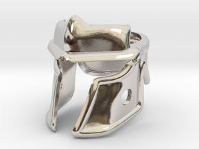 Roman Helm in Rhodium Plated Brass