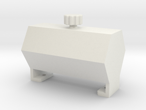 Fake fuel tank ''Hexagon'' in White Strong & Flexible