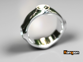 Dizzy Lizzy - Ring - US 9 - 19 mm inside diameter in Fine Detail Polished Silver