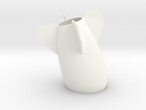 Peaceful Bomb Vase in White Processed Versatile Plastic