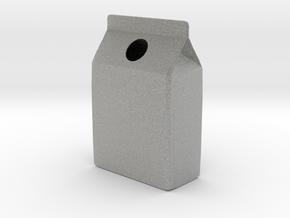 Milk Carton Vase in Metallic Plastic