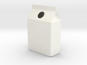 Milk Carton Vase in White Processed Versatile Plastic