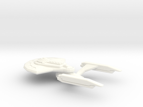 Meadow Class Heavy Cruiser in White Strong & Flexible Polished