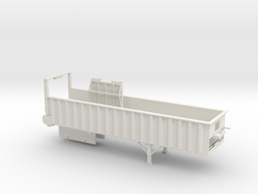 1/64 34' Silage Trailer in White Natural Versatile Plastic