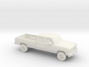 1/64 1991-93 Dodge Ram Crew Cab in White Strong & Flexible