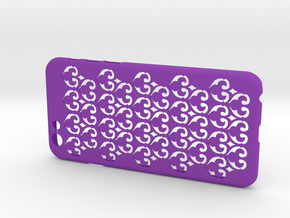 Fleur-de-lis iPhone6/6S case in Purple Strong & Flexible Polished
