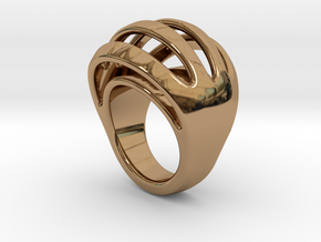 RING CRAZY 28 - ITALIAN SIZE 28  in Polished Brass