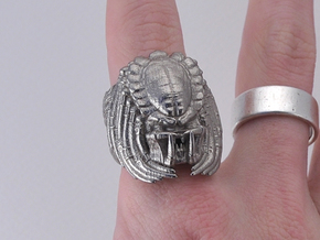 Predator Ring Size 10 in Polished Bronzed Silver Steel