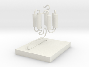 GPCR(3D With Stand) in White Natural Versatile Plastic