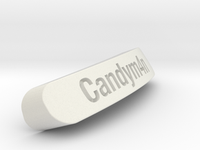 Candym4n Nameplate for Steelseries Rival in White Natural Versatile Plastic