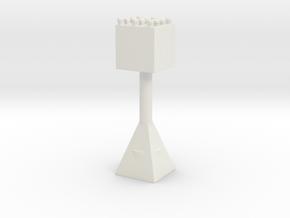 Miniature Racersign in White Natural Versatile Plastic