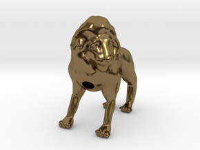 Lion in Polished Bronze