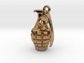 Grenade pendant in Polished Brass