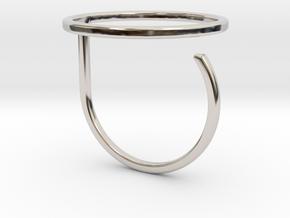 Circle ring shape. in Platinum