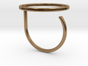 Circle ring shape. in Natural Brass