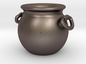 Cauldron in Polished Bronzed Silver Steel