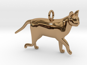 Cat in Polished Brass