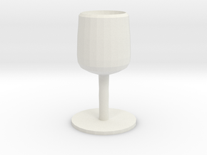 THE SILVER GOBLET in White Natural Versatile Plastic