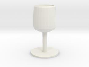 THE SILVER GOBLET in White Natural Versatile Plastic