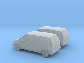 1/160 2X 1990 Ford Aerostar in Smooth Fine Detail Plastic