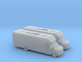 1/160 2X Ford E Series RV in Smooth Fine Detail Plastic