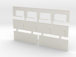 Strip Mall Walls 2 Z Scale in White Natural Versatile Plastic