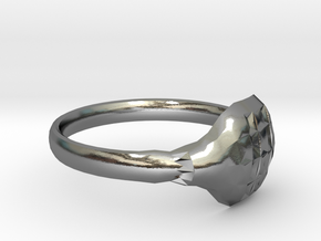 RING15CMK1 in Polished Silver