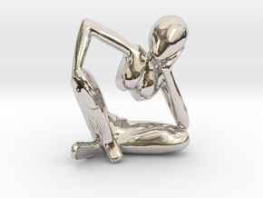 Small African Sculpture in Platinum