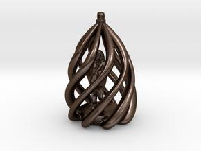 Swirl Ornament in Polished Bronze Steel