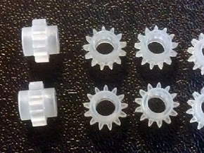 O Scale Rivarossi F9 Drive Gear x8 1:48 in Frosted Ultra Detail