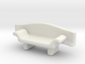 Couch No. 5 in White Natural Versatile Plastic