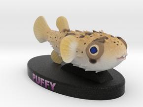 Custom Fish Figurine - Puffy in Full Color Sandstone