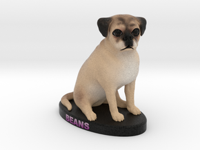 Custom Dog Figurine - Beans in Full Color Sandstone