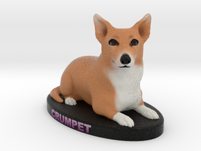 Custom Dog Figurine - Crumpet in Full Color Sandstone