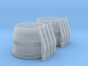 ENTERPRISE NX01 SET NACELLE CAP in Smooth Fine Detail Plastic
