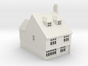 RMS-1 N Scale Rye Mint street building 1:148 in White Natural Versatile Plastic