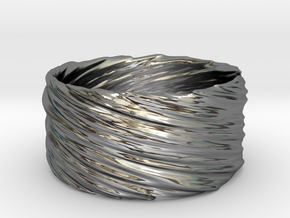 Twisted No.1 in Fine Detail Polished Silver