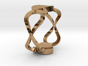 InfinityLove ring Size 54 in Polished Brass
