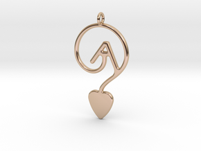 GAY LOVE SMALL in 14k Rose Gold Plated Brass