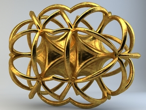 Artefact 55F in Polished Gold Steel