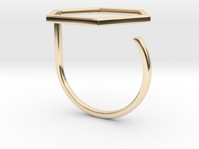Hexagon ring shape. in 14K Yellow Gold