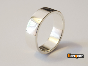 Bruno - Ring - US 9 - 19 mm inside diameter in Polished Silver