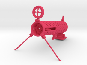 Spring Loaded Paper Cannon in Pink Processed Versatile Plastic