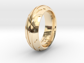Motorcycle Tire Ring in 14K Yellow Gold: 9.5 / 60.25