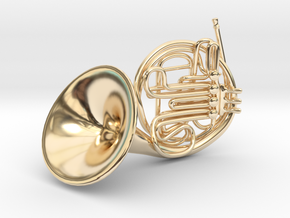 French Horn Pendant in 14K Yellow Gold