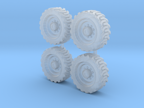 Tractor wheels  01. HO scale(1:87)   in Smooth Fine Detail Plastic