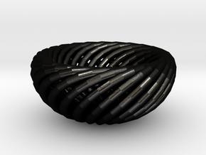 Torus bowl in Matte Black Steel