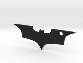 Batman logo keychain in Black Natural Versatile Plastic