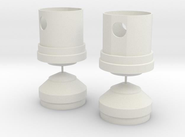 Jetpack Tank Caps in White Natural Versatile Plastic